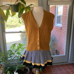 Vintage mustard knit vest